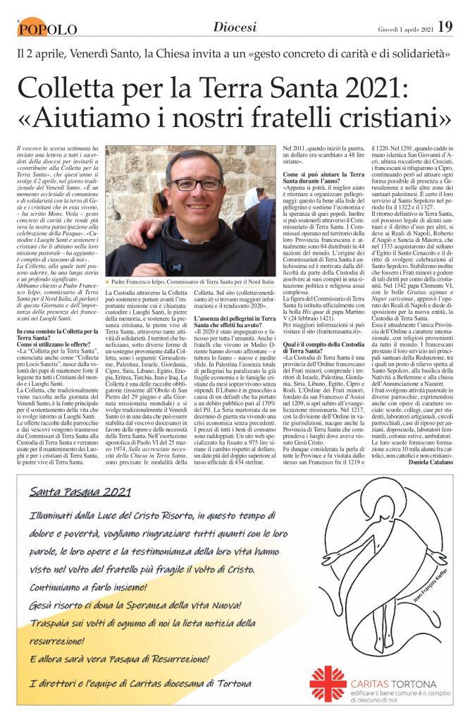 francesco intervista il popolo tortona aprile 2021